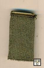 9ct C.1910 Gold mesh Change Purse,Wt-15.5gms , Marked 9K (OOAK)