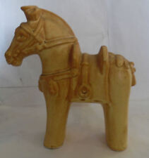 Vintage Wood Hand Carved Horse Saddle Reins Figurine Statue Collectible