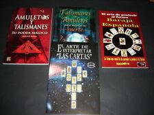 #14 JUEGO 4 BOOKS CARTAS Y TALISMANES libros poder magico interpretacion baraja
