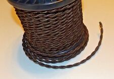 BROWN RAYON COVERED TWISTED LAMP CORD 18 GAUGE 2 WIRE SOLD BY THE FOOT 46636JB