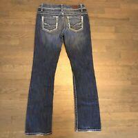 BKE Buckle Payton Bootcut Stretch Denim Jeans Dark Blue Woman's Size 29L