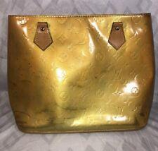 Louis Vuitton Authentic Yellow Vernis Houston Monogram PM Women's Tote Handbag
