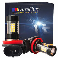 DuraFlux 2x 160W High Power H11 H8 OSRAM LED Fog Driving DRL Light Bulb 6K White
