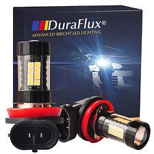 DuraFlux 2x 160W High Power H11 H8 OSRAM LED Fog Driving DRL Light Bulb 6K White