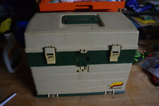 Vtg Plano 4 Drawer Tackle Box Full Jigs Lures hooks Fishing Supplies