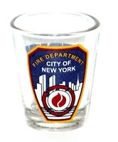 2002 Citi Design Fire Department City of New York Shot Glass Clear Pre-owned.