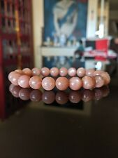 Top! AA+ Finest Natural Mozambique SUNSTONE bead bracelet Men 10mm *WATCH VIDEO*