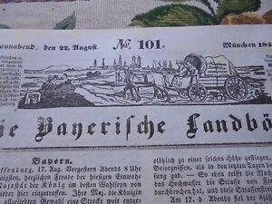 1840 Landbötin 101 / Landshut Benediktbeuren Crailsheim Kempen Amberg