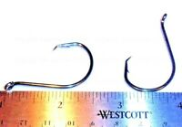 100 Size #5/0 Circle Hooks Black Nickel High Carbon Sport Octopus 2X STRONG FREE