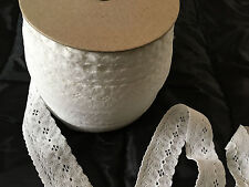 White elastic lace trim - 93 meter roll (see description)
