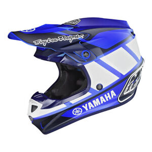 2019 Troy Lee Designs TLD Adult SE4 Yamaha RS1 Polyacrylite Helmet Blue MX ATV