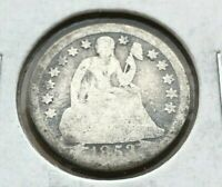 1853 Seated Liberty Dime with Arrows