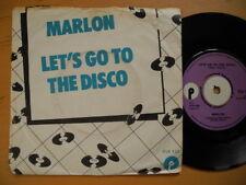 "MARLON Let's Go To The Disco 45 7"" 1974 Denmark EX Roger Glover Deep Purple"