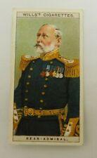 Cigarette Tobacco Card Wills Naval Dress & Badges 1909 # 8 Rear Admiral - RAN RN
