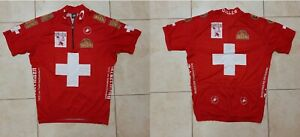 Castelli Suisse Cycling Shirt XL Jersey Cycle Italy Vintage Camiseta