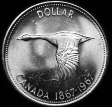 1967 Canada One dollar  Flying Goose UNC  A47-368