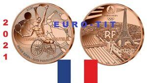 FRANCE     1/4     EURO    JEUX OLYMPIQUES    2021    NEUVE   TENNIS    prévente