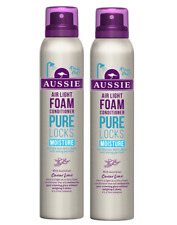 2x Aussie PURE LOCKS Air Light Foam MOISTURE Conditioner 180ml