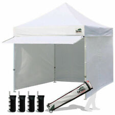 10x10 White Pop Up Instant Canopy Party Beach Tent Trade Show Tent Side Walls