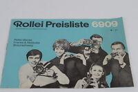 Rollei Preisliste 6909 60er Jahre guter Zustand