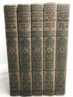 1915 Mental Efficiency Series by Tashi, Besser & Nicolle - Vol 3,4,5,6 & 8 Good!