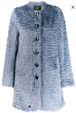Steffen Schraut Faux Fur Coat Blue Size uk 12 eu 40 RRP £360