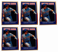 (5) 1992 Sports Cards #73 Howard Johnson Baseball Card Lot New York Mets