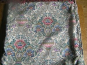 """Pair of Piped 100% Thick Cotton Sanderson Cascas Cushion Covers 18""""x18"""""""