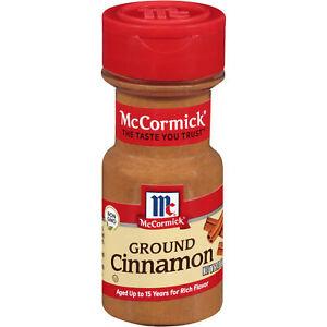 McCormick Classic Ground Cinnamon Shaker Bottle, 2.37 oz