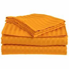 4-pc Full Orange Superior 1500 Series Striped Brushed Microfiber Sheet Set