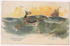 Trasmissione D'Ordini in Alto Mare, Italy Shipping Art Postcard, B664