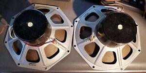 """2 Philips AD3800M Full Range Speakers  8"""" 8 Ohm ! 1960? Holland Loudspeakers VG+"""