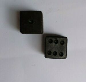 HAND FORGED WROUGHT IRON DICE, 2 METAL DICE WITH LEATHER POUCH
