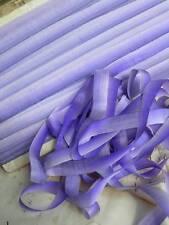 50 metros antiguo francés Pura Seda Tafetán ombree bordado de la cinta ribbonwork un
