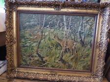 Originale künstlerische Öl-Malerei mit Tier-Reh-der Zeit
