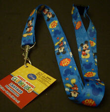"Lot of 2 Disney Pin Trading Key ID Lanyards 18.5"" Length Mickey Mouse Oh Boy"