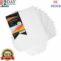 "12PC Pre Stretched Canvas Lot Blank Frame 8X10"" Large Wall Art WOOD Paint Board."