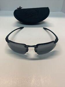 MAUI JIM KANAHA SUNGLASSES Gloss Black Frames w/ Gray Lenses MJ 409-02 (X1)