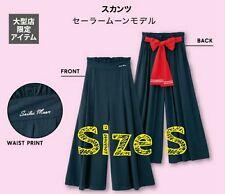NEW Sailor Moon RARE GU Size S Gaucho Skirt Pants Skants Navy Red Ribbon Bow