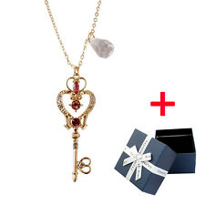 Sailor Moon Chibi Usa Gold Plated Crystal Pendant Necklace Cosplay Jewelry & Box