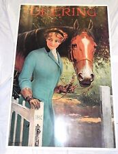 """Large 24""""x36"""" Print Poster Deering Repro Gallery Graphics Woman Horse R. A. Fox"""
