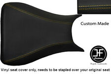 YELLOW STITCHING VINYL CUSTOM FITS YAMAHA 600 YZF R6 03-05 FRONT SEAT COVER ONLY