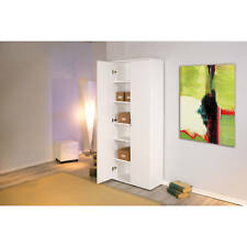 Armoire penderie dressing meuble de bureau rangement 2 portes