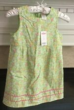 Gymboree Palm Springs Green Floral Paisley Sleveless Summer Dress NWT Sz 7