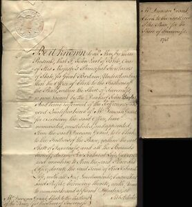1761 EARL of BUTE to Duncan Grant as Clerk to Justices of Peace-Invernesshire