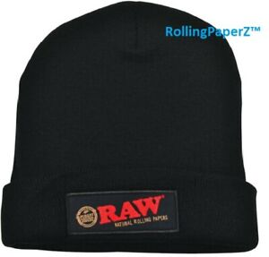 Raw Rolling Papers Beanie Toboggan Hat - Black - One Size fits Most! RAWthentic!