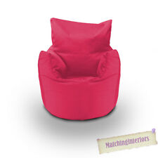 Ready Steady Bed Childrens 100 Cotton Twill Pre-filled Bean Chair Hot Pink
