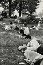 1950s HENRI CARTIER-BRESSON French Lovers Country Picnic Couple Photo Art 16x20