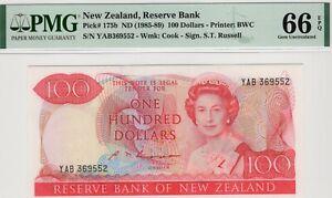 1985-89 New Zealand  100 Dollar  PMG 66 EPQ Gem Uncirculated