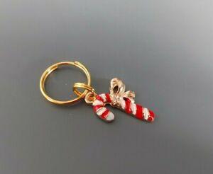 CHRISTMAS Dog Cat Collar Charm - Candy Cane